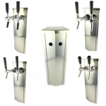 Schanksäule Zapfsäule 2 leitig aus Edelstahl mit oder ohne Zapfhahn Zapfanlage