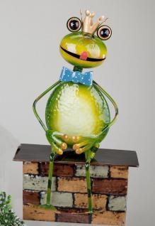 Gartenstecker Frosch Metall Gartendeko Beet Stecker Rosenkugel Deko Figur Stab
