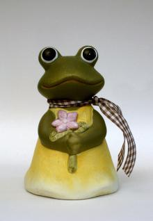 Zaunfigur Frosch Zaunhocker Zaun Deko Garten Stecker Tier Figur Skulptur Statue