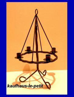 Adventskranz Metall mit Ständer Kerzen Kerzenleuchter