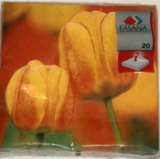 20 Servietten Tulpe Fasana Tischdeko Partydeko 33x33 cm