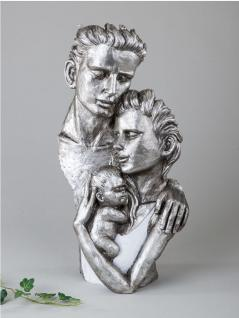 Deko Objekt Büste Familie Artikel abstrakte Skulptur Figur Mann Frau Baby