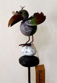 Rabe aus metall g nstig sicher kaufen bei yatego for Gartendeko metall vogel
