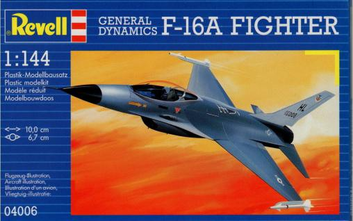 Revell Modellbausatz 1:144 F-16 A FIGHTER Flugzeug