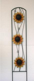 Rankgitter Gartenstecker Metall Sonnenblumen Deko Garten Beet Stecker Rankhilfe