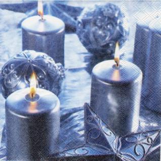 20 Servietten Weihnachten Tischdeko Kugeln Kerzen Technik Napkins Serviette Deko