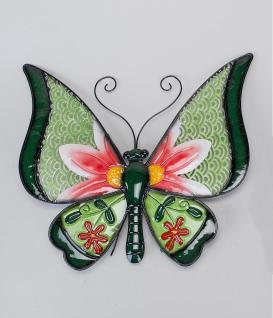 Schmetterling Metall Wanddeko Deko Hänger Wandhänger Deko Tier Figur Wandbild