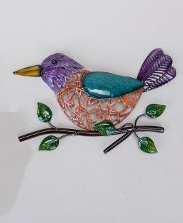 Wanddeko Vogel Wandbild Metall Deko Bild Tier Figur Paar Wandschmuck Wand Hänger
