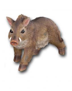 Wildschwein Schwein Keiler Eber Sau Deko Garten Wald Tier Figur Skulptur Statue