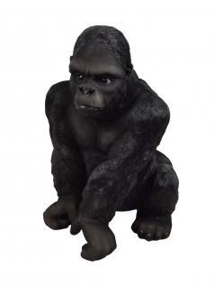 Gorilla Affe Silberrücken Deko Afrika Tier Garten Figur Skulptur Statue