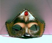 Maske Augenmaske Venezia Domino Halbmaske Deko Masken Gold Karneval