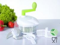 Multi Küchenhelfer Küchen Gerät Salat Schleuder Eitrenner Rührer Messer 6 tlg.
