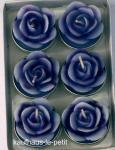 Teelichter Rose 6er Set im Geschenkkarton lila 4 cm