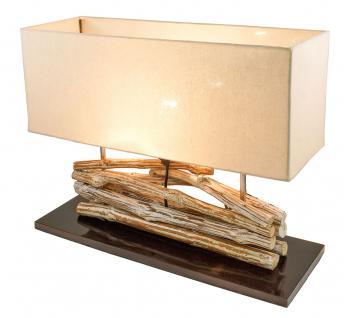 Lampe Tischlampe aus Holz Holzlampe Tischleuchte Treibholz 45cm hoch