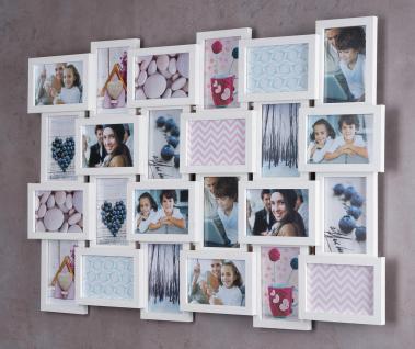 Bilderrahmen Holz 57x84cm Ahorn Weiß 24 Fotos Glas Fotorahmen