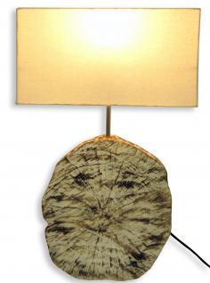 Tischlampe aus Holz Echtholz 35x16x54cm Lampe Holzlampe Unikat Stamm