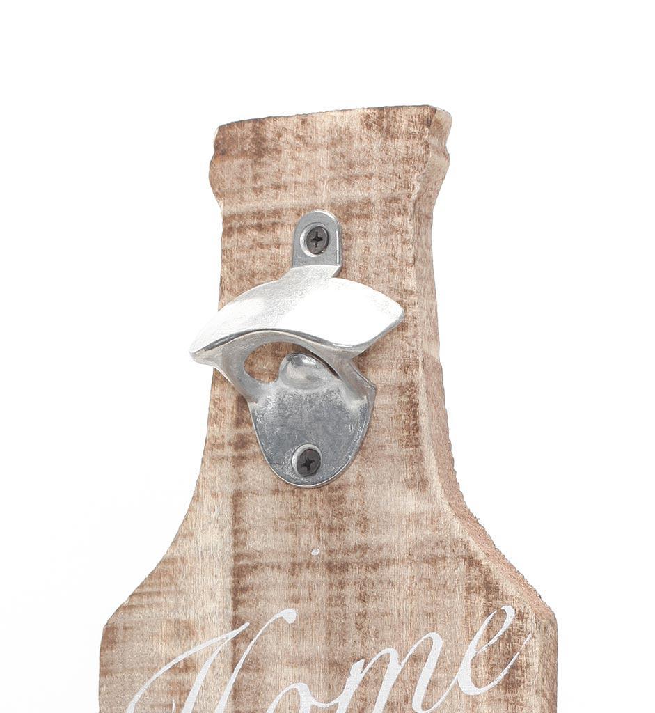 xxl wand flaschen ffner aus holz mit spruch beer bar. Black Bedroom Furniture Sets. Home Design Ideas