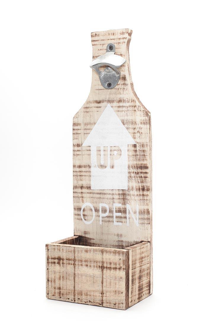 xxl flaschen ffner f r wand aus holz mit spruch bar deko. Black Bedroom Furniture Sets. Home Design Ideas