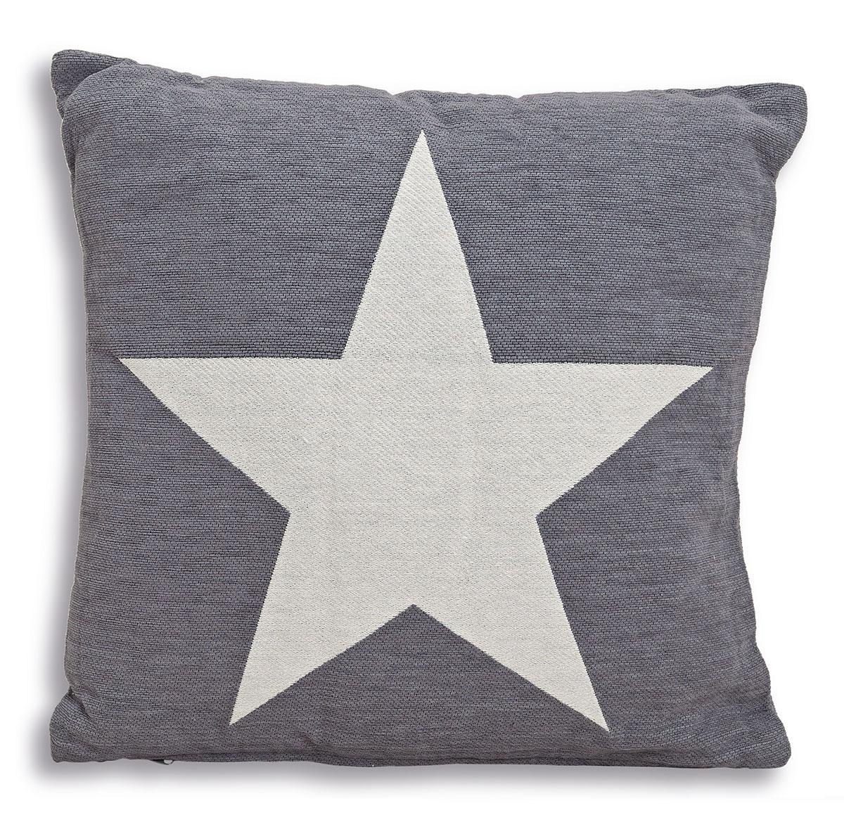 kissen set sterne star grau beige 45cm baumwolle. Black Bedroom Furniture Sets. Home Design Ideas