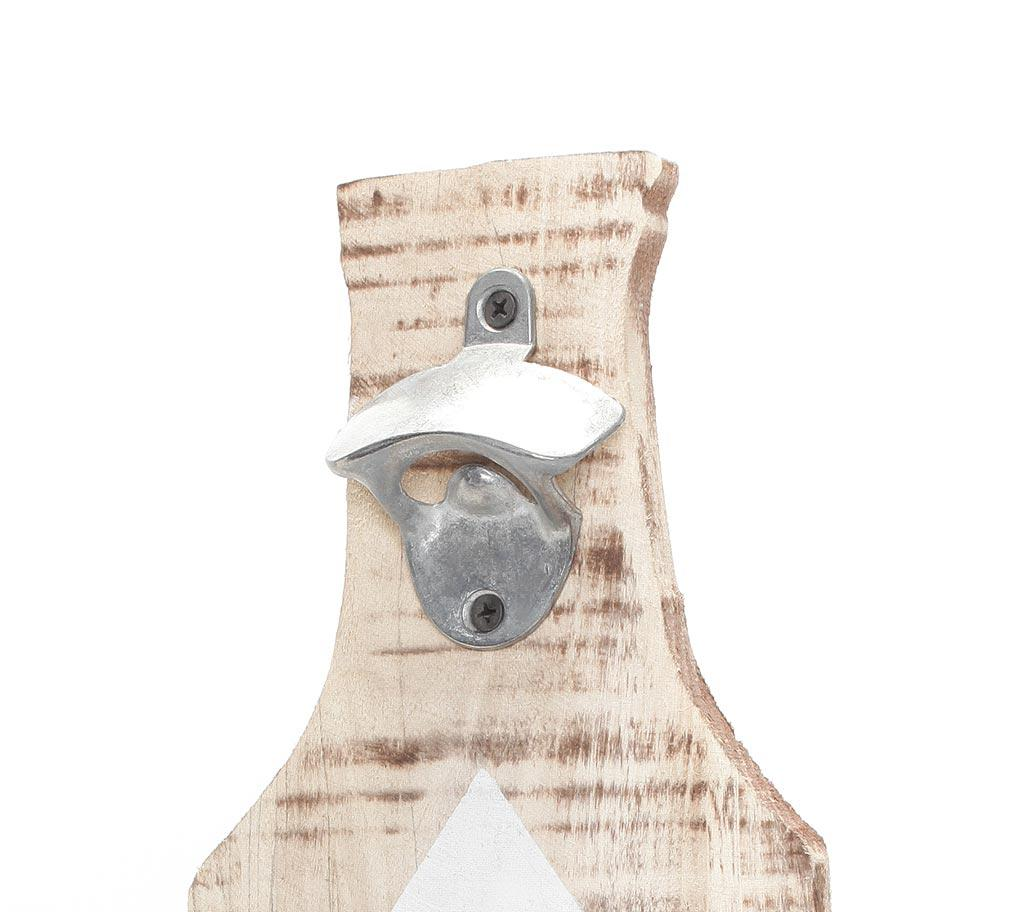 xxl flaschen ffner f r wand aus holz mit spruch bar deko wandobjekt kaufen bei living by design. Black Bedroom Furniture Sets. Home Design Ideas