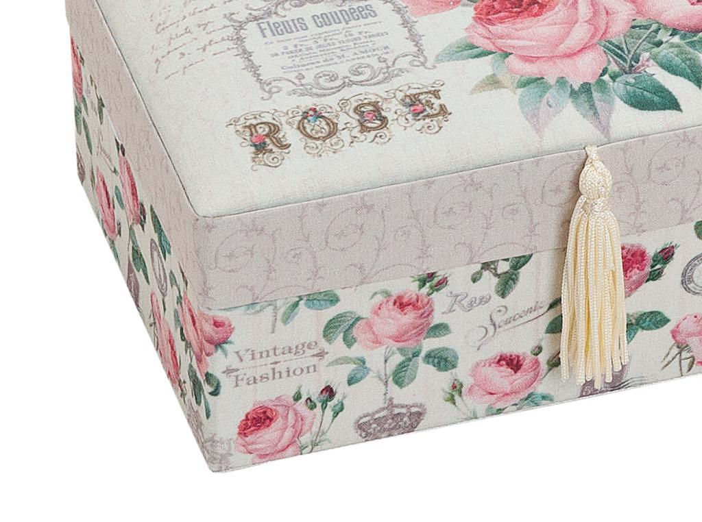schmuckk stchen schatulle aufbewahrung spiegel shabby rose vintage kaufen bei living by design. Black Bedroom Furniture Sets. Home Design Ideas