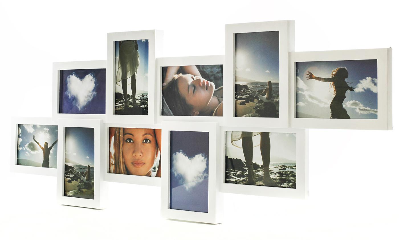 bilderrahmen collage wei f r 10 fotos fotogalerie. Black Bedroom Furniture Sets. Home Design Ideas