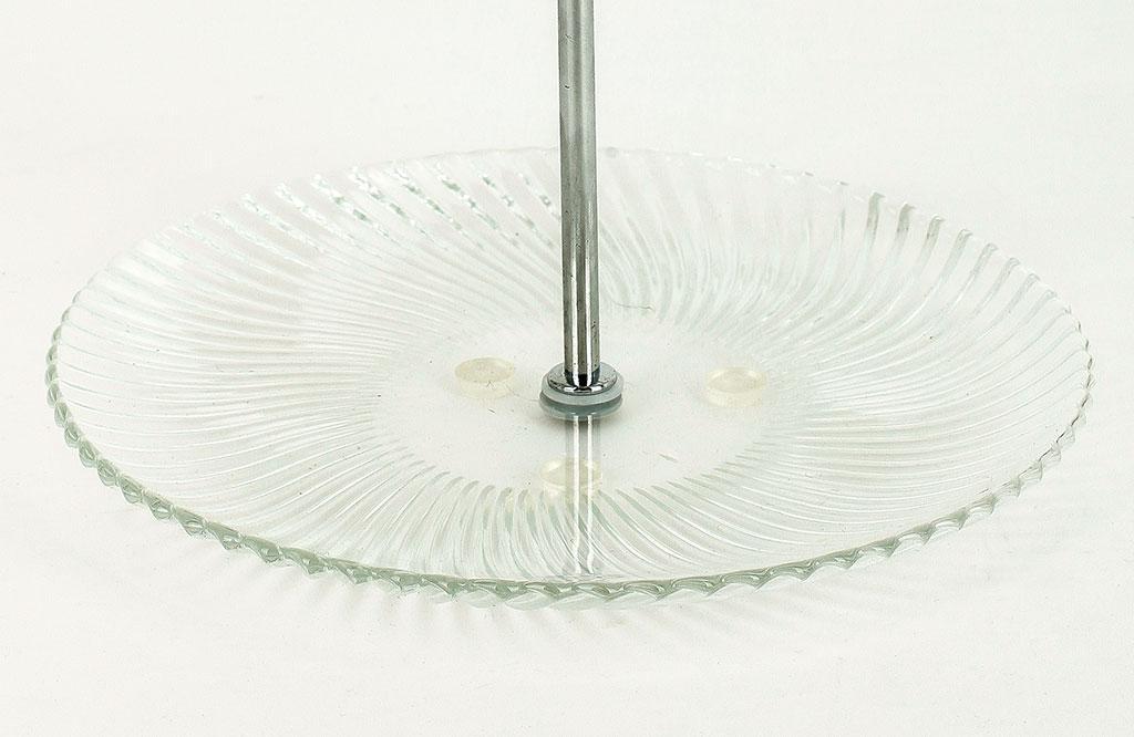 etagere 2fach 2 st ckig klares glas runder griff h he 26cm kaufen bei living by design. Black Bedroom Furniture Sets. Home Design Ideas