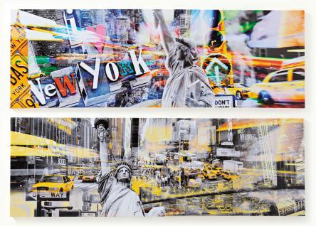 2 Wandbilder Set Amerika USA New York Freiheitsstatue 2er Set Bild