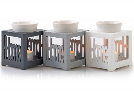 Duftlampe schwarz anthrazit Home Keramik Öllampe Aromalampe Duftöl