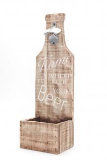 XXL Wand-Flaschenöffner aus Holz mit Spruch Beer Bar Dekoration Öffner