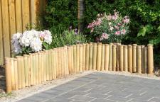 Bambuszaun B x H: 200x30cm Beeteinfassung Rasenkante Steckzaun Garten