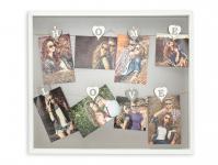 Bilderrahmen 8 Fotos Klammern Home Love Weiß Holz Fotorahmen Collage