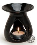 Duftlampe schwarz - 11x10cm Keramik Öllampe Aromalampe Aromaspender