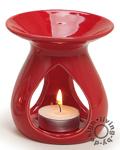 Duftlampe rot - 11x10cm Keramik Öllampe Aromalampe Aromaspender