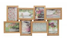 Fotogalerie Holz in Eiche 8 Fotos Glas Bilderrahmen Collage Fotorahmen