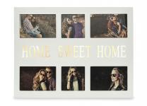 LED Bilderrahmen Home Sweet Home 6 Fotos Fotorahmen Holz weiß Galerie