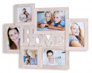 Bilderrahmen Holz 6 Fotos Home 53x38, 5 Fotorahmen Collage Galerie