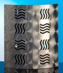 Schlüsselkasten aus Metall mit Wellen Optik 24x21cm Inklusiv Schrauben
