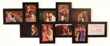 Fotogalerie Holz schwarz 10 Fotos Glasscheiben - Bilderrahmen Collage