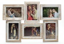 Bilderrahmen gold gewischt 6 Bilder Barock antik - Fotorahmen Collage