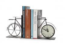 Buchstütze Fahrrad Nostalgie Uhr Eisen antikbraun Buchhalter Stütze