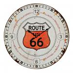 Wanduhr Holz XXL 58cm rund USA Route 66 Vintage Shabby Retro Used Look
