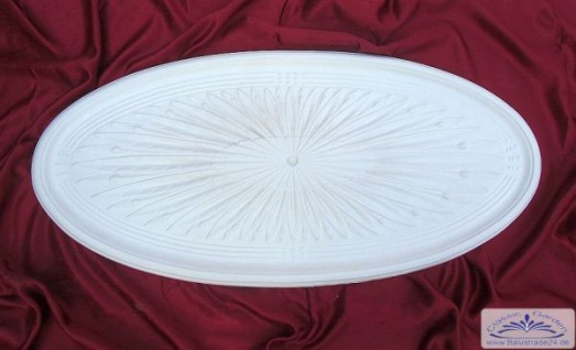 R-15 Rosette ovalas Deckenelement Gipsstuck Deckenrosette oval Deckenelement 93x45cm
