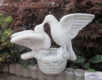 SA-N1273 Taubenpaar als kleine Garten Deko Tauben Figur 35cm 13kg