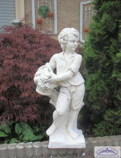 KP-0201 Gartenfigur Gärtner mit Weinkorb als Garten Dekofigur 75cm 40kg - Vorschau 2