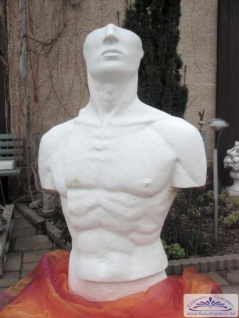 Torso Skulptur Mann Modern Art Design erotisches Bildhauer Figur 109cm 250kg
