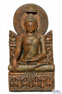 BD-3115 sitzender Buddha XXL Buddhafigur für asiatischen Garten Deko 94cm 128kg