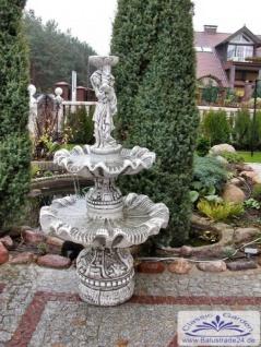 SR760 Gartenbrunnen mit Gartenfigur Frau mit Wasserschale und 2 Wasserbecken 161cm 252kg