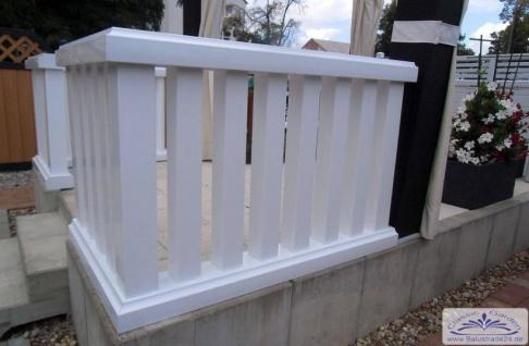 leichte vierkant balustrade f r balkon nur 25kg je meter aus kunststoff ohne streichen. Black Bedroom Furniture Sets. Home Design Ideas