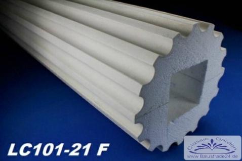 LC101-21F Säule kanneliert 255mm Durchmesser 2Meter Styroporsäule Full für Haus Garten Eingang Verkleidung